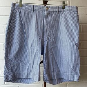 Ralph Lauren Polo Blue Seersucker Shorts Sz 36